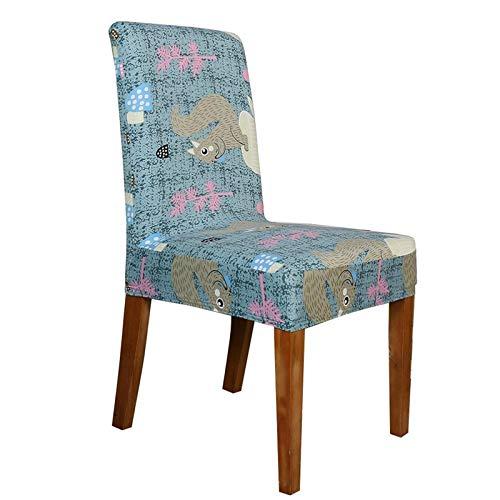 Joycaling Funda de silla impresa suave de seda de leche, protector de silla para comedor, decoración del hogar (tamaño único; color: 7)