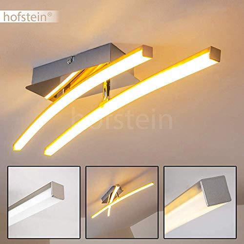 LED Deckenleuchte Powassan, moderne Deckenlampe in Chrom, 2-flammig mit einer verstellbaren Lichtleiste, 2 x 5 Watt, je 500 Lumen (1000 Lumen insgesamt), 3000 Kelvin (warmweiß)