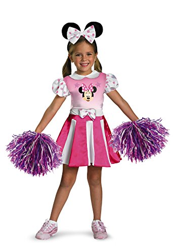 Disguise Disney Minnie Mouse Cheerleader Toddler Girls' Costume, X-Small (3T-4T)