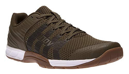 Inov-8 Men's Multipurpose Lightweight Trail Running Cross Training F-Lite 260 Knit Shoes, Khaki/Gum, 10.5