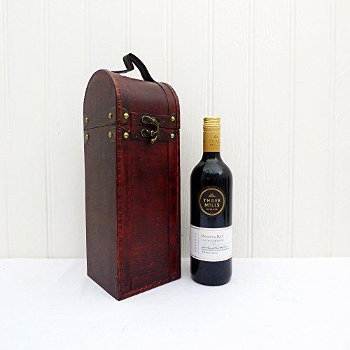 Tres Mills Reserva Vino Tinto 75cl Presentado en un Antiguo Estilo Wine Chest - Idea de regalo para el Día del Padre, Cumpleaños. Aniversario, bodas y corporativos