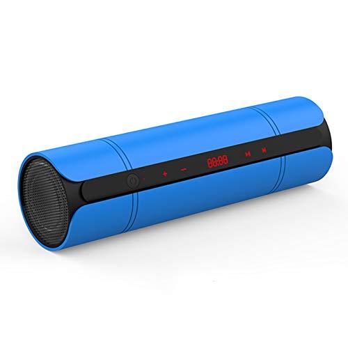 PPBB Altavoz Bluetooth para Exteriores de Alto Volumen inalámbrico Mini portátil de Alta Potencia para Coche Reproductor de Sonido Envolvente en casa 3D subwoofer con sobrepeso, Azul