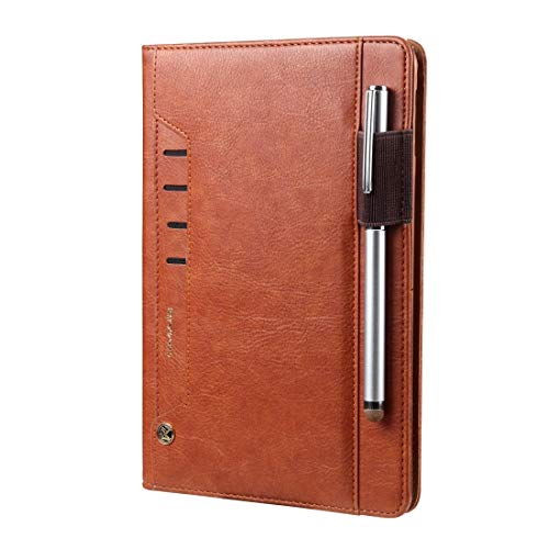 LM For iPad 10.2 Tmall Kaka Litchi Texture Horizontal Flip Leather Case with Holder & Card Slot & Photo Frame & Pen Slot 2021 NEW MODEL (Color : Brown)