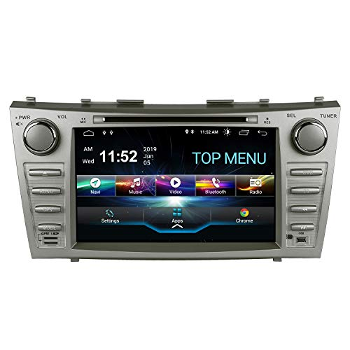 SWTNVIN Camry Car Stereo for 2007 2008 2009 2010 2011,Android 10.0 Double Din in-Dash 8 Inch Touch Screen Multimedia Receiver with Bluetooth GPS Navigation Radio Audio DVD Player TPMS SWC