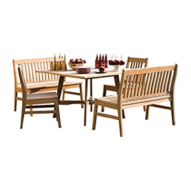 Oxford Garden 5 Piece Wexford Shorea Dining Set
