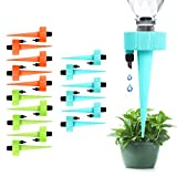 16 PCS Plant Self Watering Spikes Devices, Automatic Irrigation Equipment Plant Waterer with Slow Release Control Switch, Adjustable Water Volume Vacation Drip Irrigation for Outdoor Indoor Plants