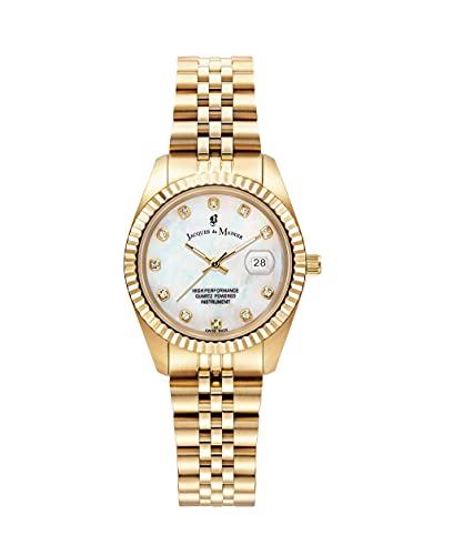 Jacques Du Manoir - Reloj de pulsera para mujer (31 mm, analógico, de cuarzo, con correa de acero inoxidable)