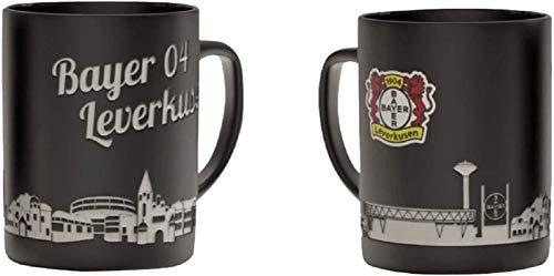 Bayer 04 Leverkusen Tasse - Skyline - Kaffeetasse, Kaffeepott, Mug - Plus Lesezeichen Wir lieben Fußball