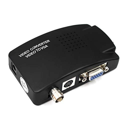 BNC + S-Video + VGA to VGA Video Converter DVR SDI System PC to TV Video Switch Box for HDTV, Monitors, Laptop