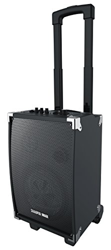 Sharper Image SBT1008 Bluetooth Wireless Tailgate Speaker With Built-in Amplifier And Guitar Jack