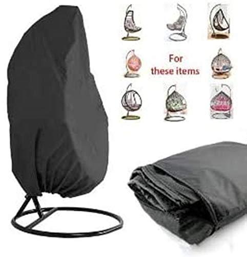 HFM Cubierta de Silla Colgante para Patio 210D Oxford Fabric Impermeable Veranda Patio Cocoon Egg Chair Muebles de jardín Cubierta Protectora