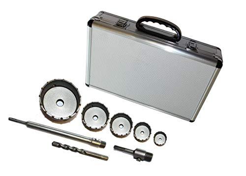 8-delig. Set gatboor SDS Plus boorkroon dozenboor boorkronen 30-110 mm boor