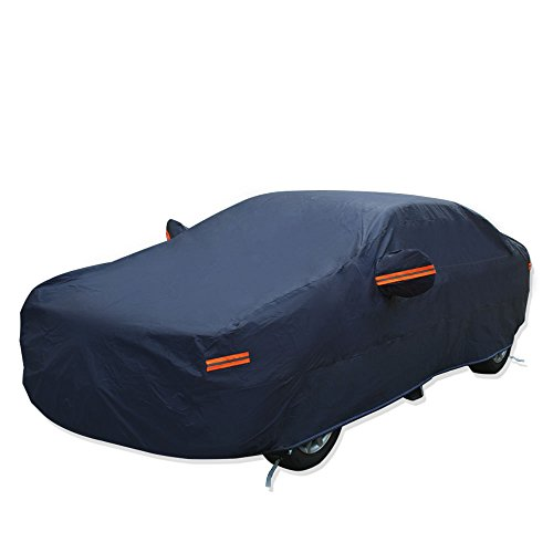 YITAMOTOR Universal Fit Breathable Car Cover PEVA Outdoor Waterproof Sun UV Snow Rain Dust Resistant - Fits up to 208 inches (Blue)