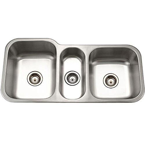 Triple Bowl Stainless Steel Undermount Kitchen Sink