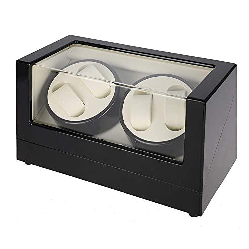 WBJLG Caja automática de Madera con enrollador de Relojes para muñecas de Hombres y Mujeres con Motor súper silencioso y Almohadas Ajustables para Relojes