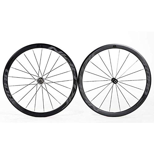 700C Bicycle Wheelset Ultralight Double Walled Aluminum Alloy Bike Rims 40Mm High Rear Wheel Front Wheel 4 Palin Fast Release BMX Road Cycling Wheelset 8 9 10 11 Speed