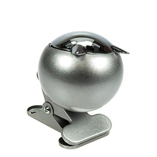 HI Aschenbecher mit Klipp, Metall, Silber, 18 x 18 x 10 cm