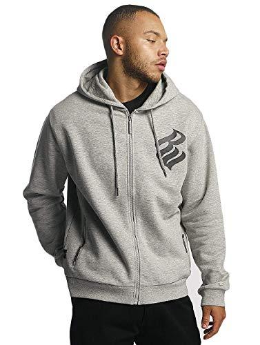 Rocawear Herren Zipper Zip Hoody RWZH008GM Grey Grau, Größe:S
