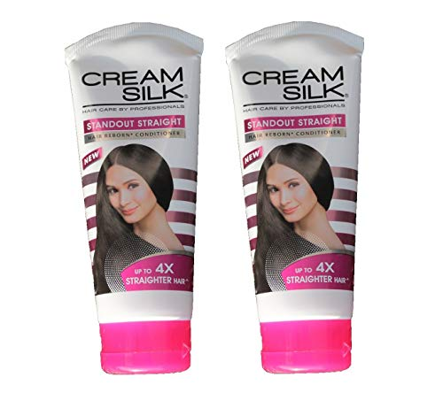 Lot of 2 Cream Silk Conditioner Standout Straight for Straighter Hair Creamsilk 180ml