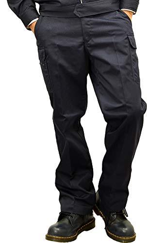 【ネイビー】Prono プロノ オリジナル 裾上げ不要 レングスカーゴパンツ 20915 (ネイビー:ウエスト91cm, 股下72cm)