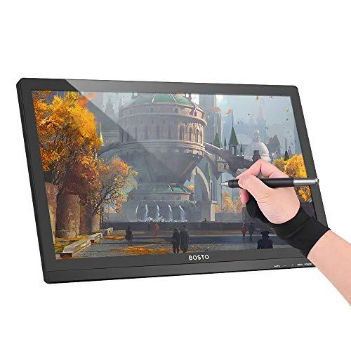 Aibecy Tabletas gráficas, mini monitor de visualización de lápiz interactivo con pantalla HD de 21.5 pulgadas 1920 * 1080 nivel de presión 8192 tableta de dibujo digital