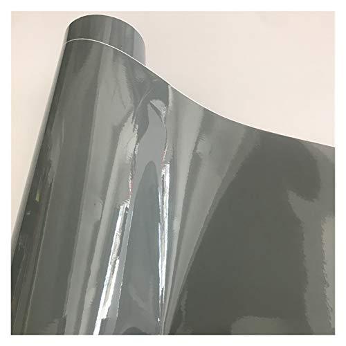 Carbon Folie 10/20/30/40/50 * 152cm Schwarz Glanzvinylfilm Glanz Glänzend Auto-Verpackungs-Folien-Aufkleber mit Luft-Blase Kostenloses Motorrad Car Wrapping Folie Auto (Color Name : Cement Grey)