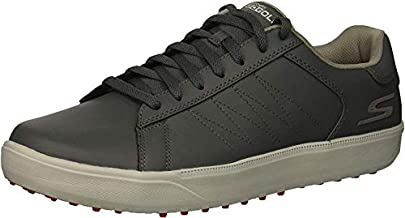 Skechers GO GOLF mens Drive 4 Golf Shoe, Charcoal/Red, 12 US