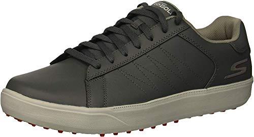 Skechers Men's Drive 4 Golf Shoe, Charcoal/red, 10.5 W US
