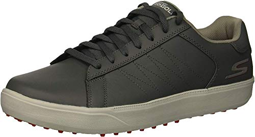 Skechers Men's Drive 4 Golf Shoe, Charcoal/red, 11.5 W US (Skechers Go Golf Pro 2 Lx Golf Shoes)