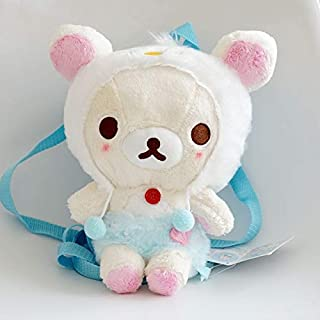YOYOTOY 35Cm San-X Relax Bear Plush Backpack Soft Pillow Stuffed Animals Dolls Bag Handbag Women Girls Kids Children Gifts Must Have Toys Inspirational Gifts Girl S Favourite Superhero Coloring