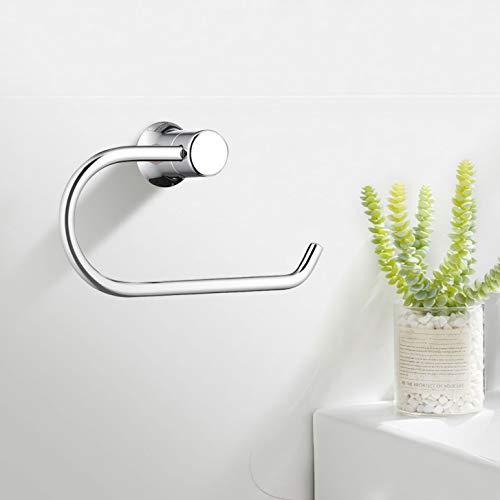 Faulkatze Toilettenpapierhalter Edelstahl Klopapierrollenhalter Papierhalter für Badezimmer Toilette Küche wc papier halterung, Chrom