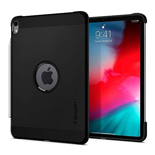 """Spigen iPad Pro 12.9"""" (2018) Back Cover Case Tough Armor -Black"""