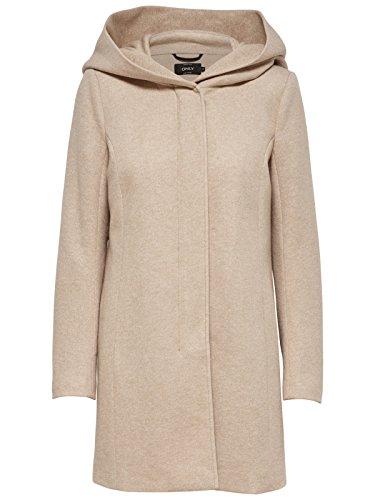 ONLY Damen Mantel Jacke onlSEDONA LIGHT COAT Parka Übergang Herbst (L, beige (Etherea))