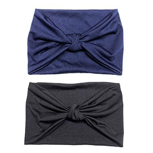chiwanji 2pcs Bandeau Extra Wide en Tissu pour Femme