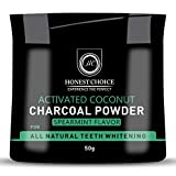 HONEST CHOICE charcoal powder I teeth whitening product I Organic activated coconut teeth