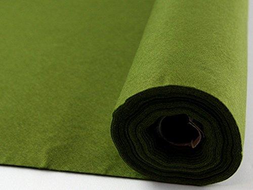 Rouleau de feutrine acrylique autocollante Vert mousse 5 m