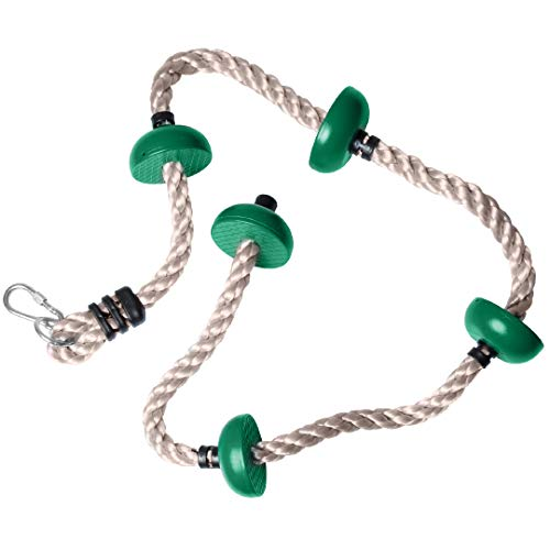 Barcaloo 6.5 Ft Playground Climbing Rope for Swing Set or Jungle Gym – Ninja Rope Outdoor Playground Equipment