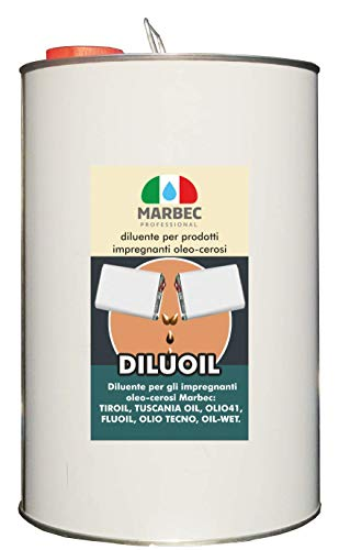 Marbec- Diluoil - Diluyente desengrasante para la extracción de resinas superficiales de la madera resinosa. Disolvente para productos al óleo y cerosos