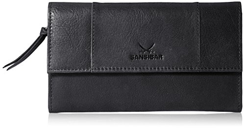Sansibar Damen Levante Geldbörsen, Schwarz (black), 19x10x3 cm