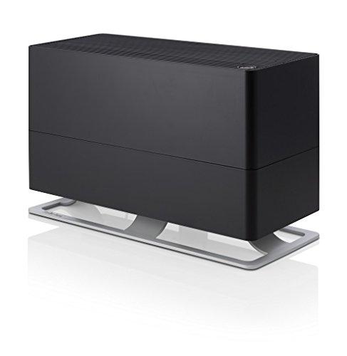 Stadler Form Oskar Big Luchtbevochtiger, energiebesparende luchtbevochtiger voor ruimtes tot 100 m2, verdamper met automatische uitschakeling, dimbare LED's, zeer stil, zwart