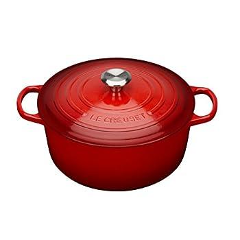 Le Creuset Enameled Cast Iron Signature Round Dutch Oven 5.5 qt Cerise