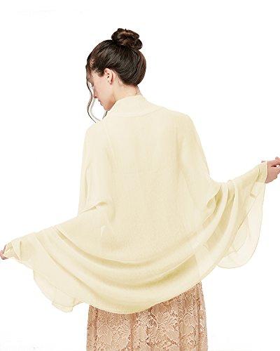 bridesmay Damen Strand Scarves Sonnenschutz Schal Sommer Tuch Stola für Kleider in 29 Farben Ivory