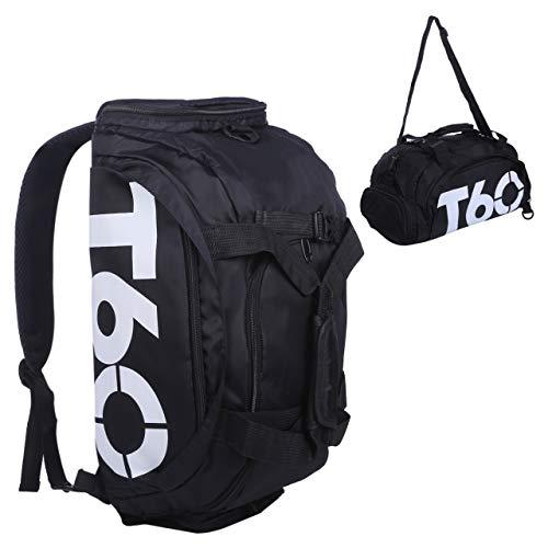 [コズーン] 3way防水スポーツバッグ シューズ収納 T60 ブラックホワイト