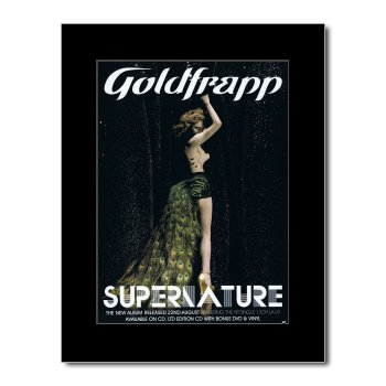Music Ad World GoldfraPP Mini-Poster, Supernature, 28,5 x 21 cm