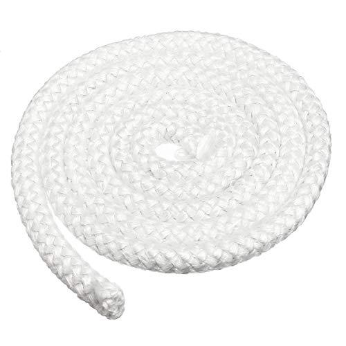 Bob Temple322000 Textile Rohstoffe 9.5mmx2m Holzofen-Tür-Dichtung Runde Fiberglas Seildichtung mit hohen Dichte Fiberglas-Streifen Seil