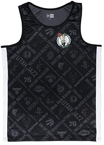 New Era Boston Celtics T Shirt/Tanktop NBA AOP Tank Black - L