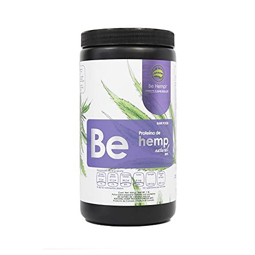 Be Hemp! - Proteína de Hemp Orgánica al 50% - Semillas de Cáñamo Canadiense en Polvo -Ideal para Enriquecer Alimentos y Bebidas - 454 Grs