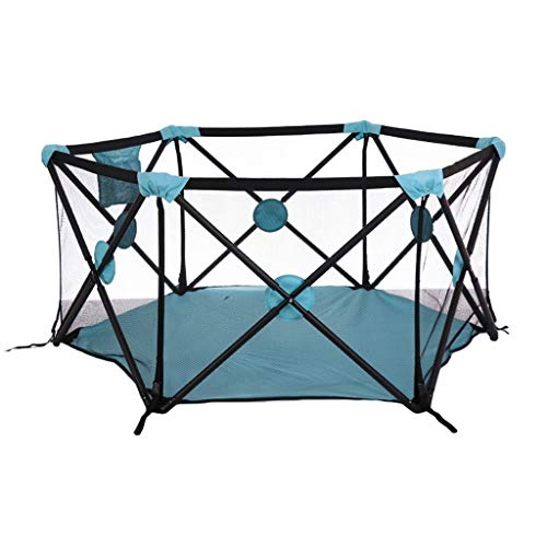 New Baby playpen Foldable Baby Playpen Hexagon,Breathable Waterproof Mesh Infant Play Fence for Chil...