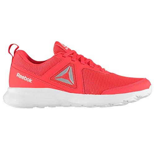 Reebok Quick Motion, Zapatillas de Trail Running para Mujer, Multicolor (Neon Red/White/Silver Met 000), 37 EU