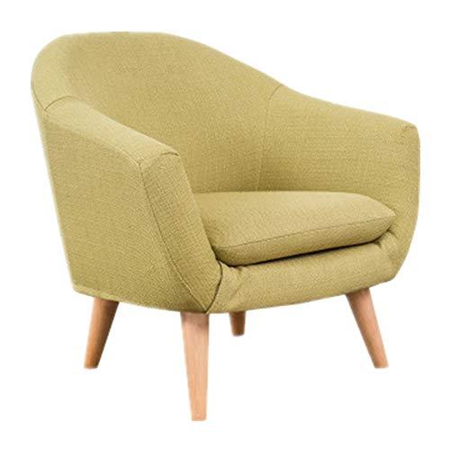 Sofá para niños, moderno, duradero, cómodo, mini reposabrazos para niños, con tela para sala de estar infantil, muebles para niños (color: verde, tamaño: 60 x 50 x 54 cm)